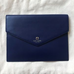 """Kate Spade *Very Good Condition"""" Navy clutch"""